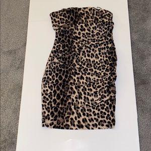 Forever 21 leopard print off the shoulder mini